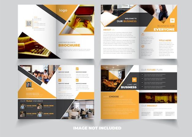 Творческий 8-страничный шаблон брошюры Premium векторы