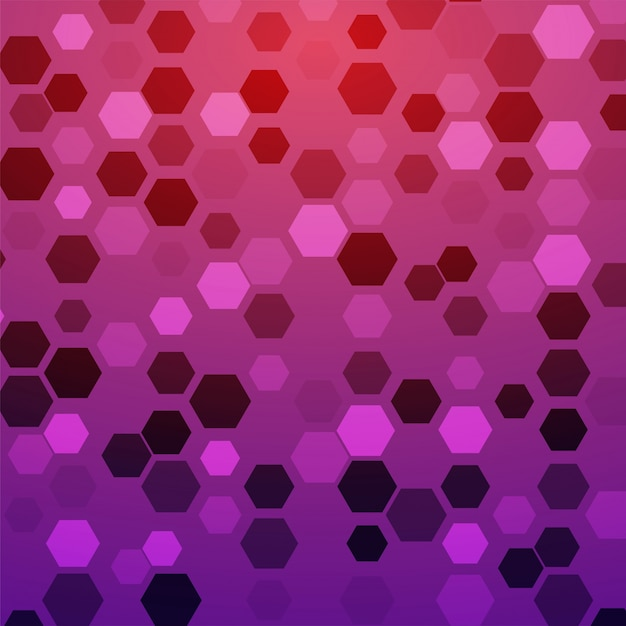 Creative abstract background with hexagonal geometric elements.