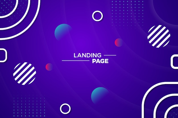 Creative abstract background with memphis style in purple Premium Vector