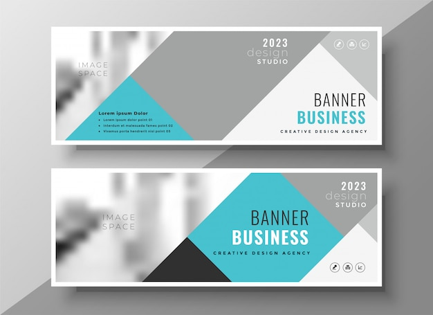 Creative abstract business banners elegant design Free Vector