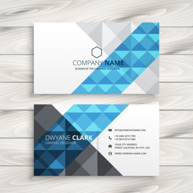Creative abstract business card Free Vector
