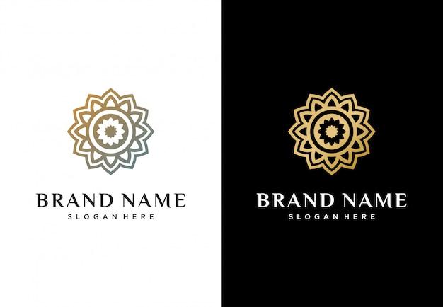 Креативный абстрактный цветочный логотип Premium векторы