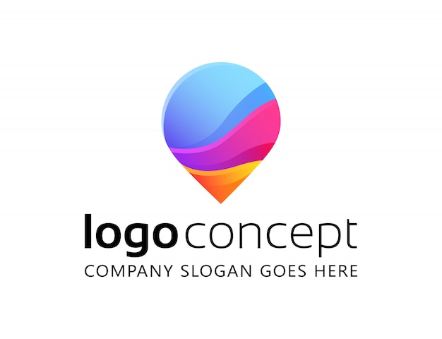 Creative abstract logo design template. Free Vector