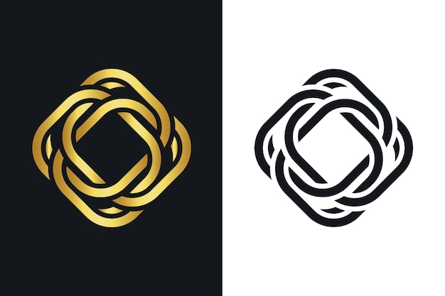 Creative abstract logo template Free Vector