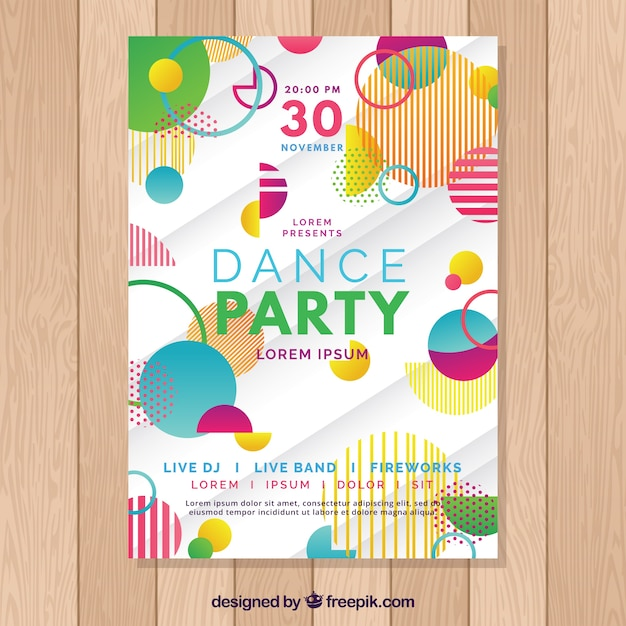 Creative Abstract Party Poster Template