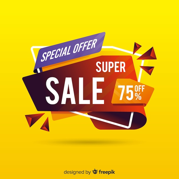 Creative abstract sale banner Free Vector