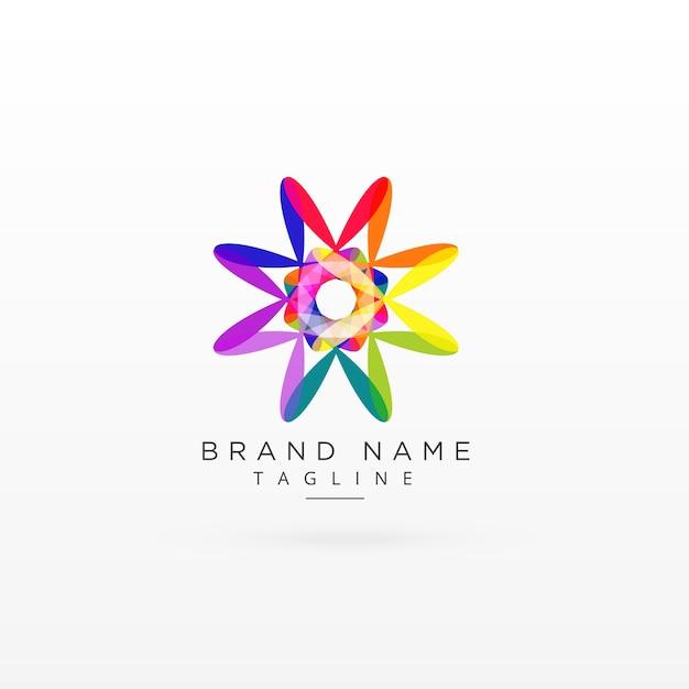 Creative abstract vibrant logo design Free Vector