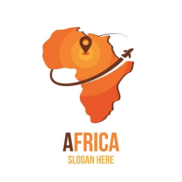 Креативный логотип карты африки Premium векторы
