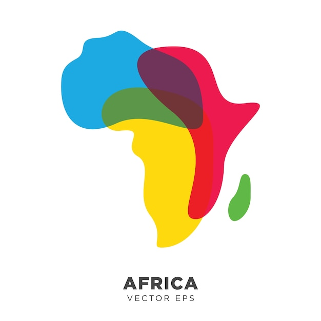 Creative africa map vector Vector | Premium Download