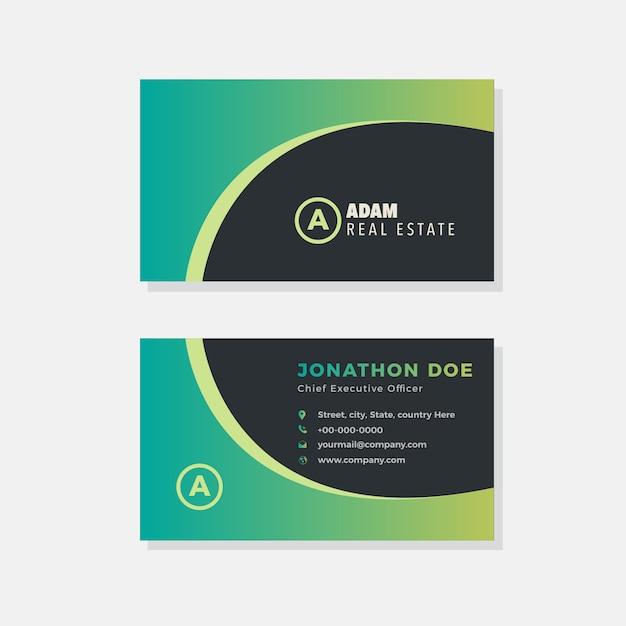 creative agency business card design  premium vector