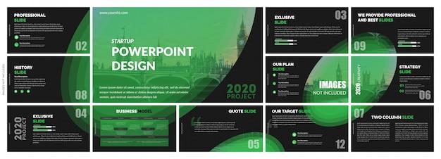 Шаблоны креативных и абстрактных слайдов многоцелевые Premium векторы