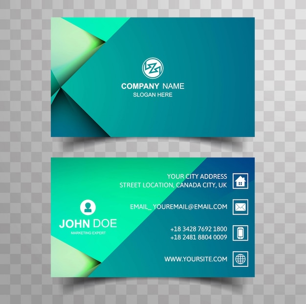 Creative and clean double sided business card colorful template creative and clean double sided business card colorful template premium vector flashek