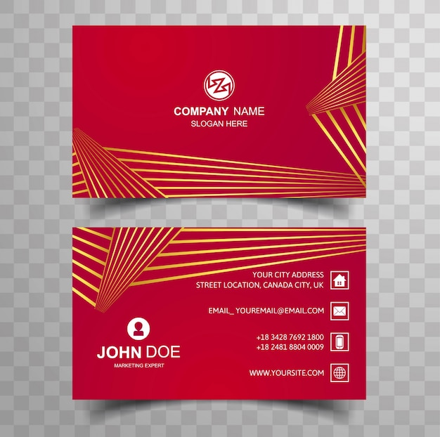 Creative And Clean Double Sided Business Card Template Vector - Double sided business card template