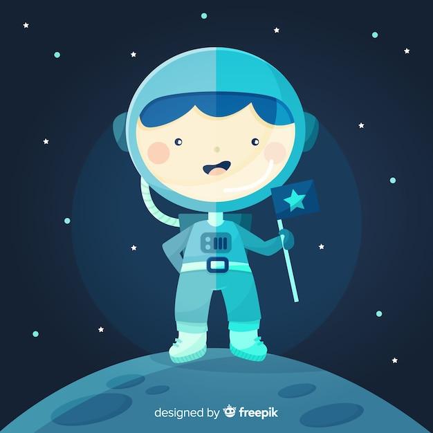 Creative astronaut design Free Vector