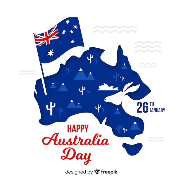 Creative australia day background Free Vector
