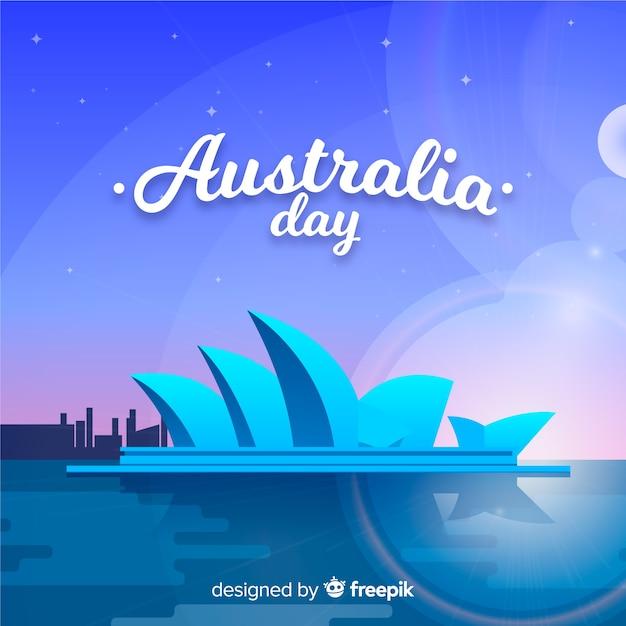 Creative australia day background Free Vector