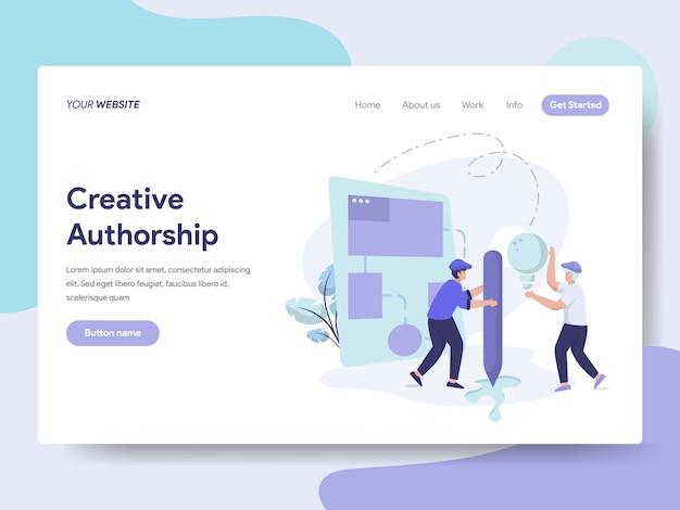 Creative authorship illustration Premium Vector