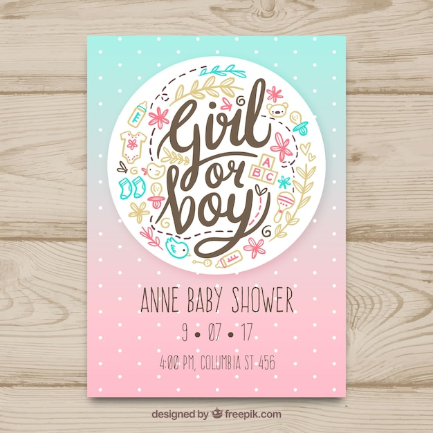 Creative Baby Shower Card Template Vector  Free Download