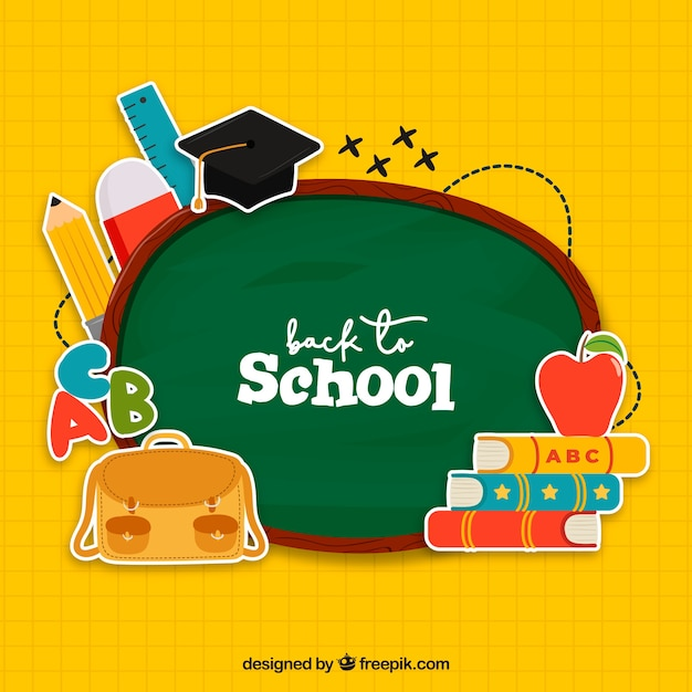 Creative back to school background Free Vector