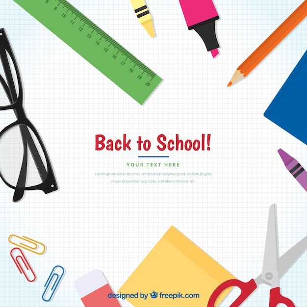 Creative back to school concept