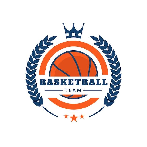 Креативный логотип баскетбольной команды Бесплатные векторы