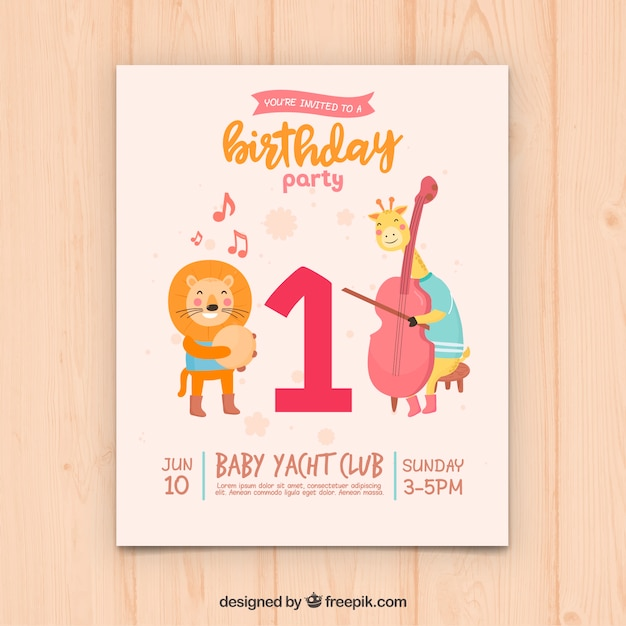 Creative Birthday Card Design Vector Free Download