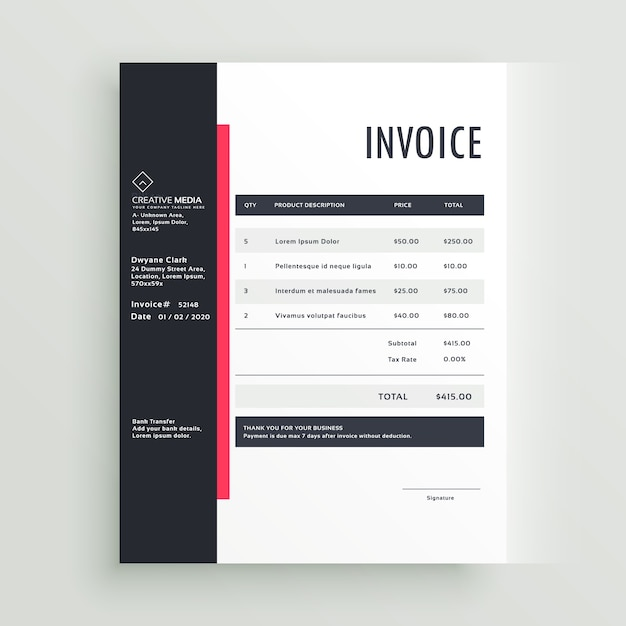 In Design Price List Template