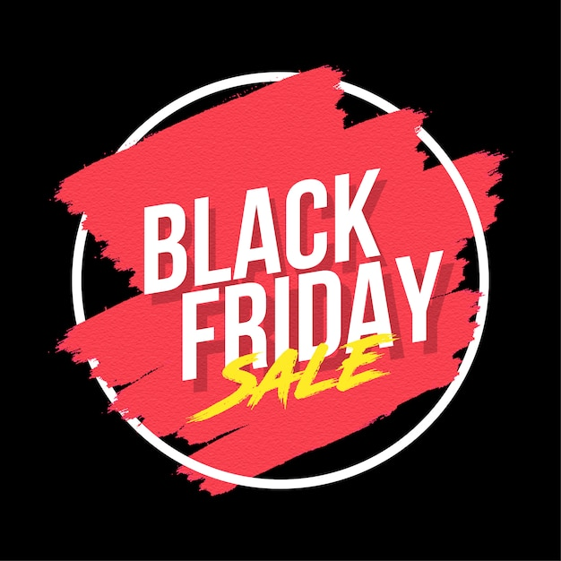 Creative black friday banner with splash Free Vector