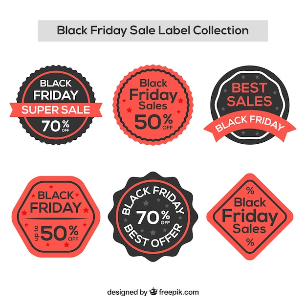 Creative black friday sale label collection