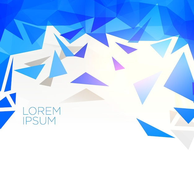 creative blue abstract triangle shape background Free Vector