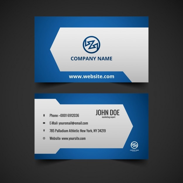 Creative blue color business card vector free download creative blue color business card free vector reheart Choice Image
