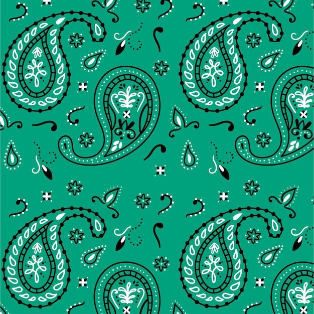Creative blue drawn paisley pattern Free Vector