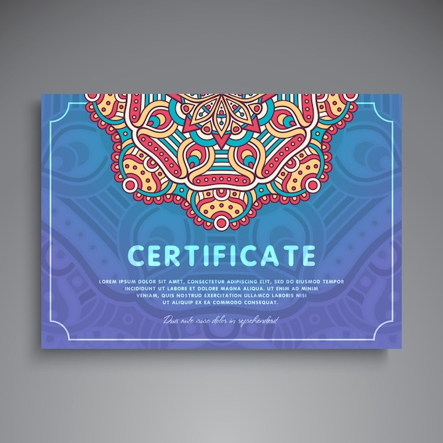 Creative Blue Ethnic Certificate Template Stock Images Page