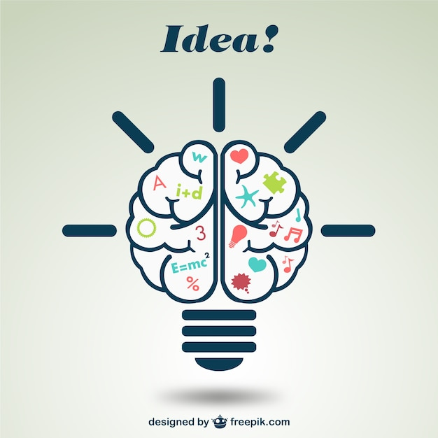 Creative brain illustration Free Vector
