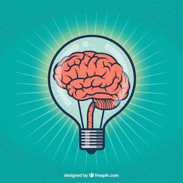 Creative brain illustration Free Vector