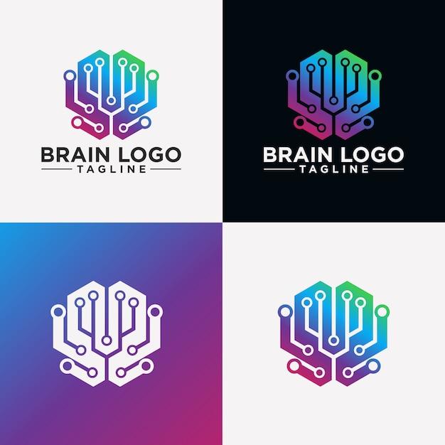Creative brain logo image Premium Vector