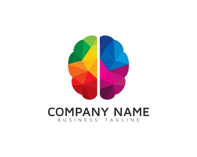 Дизайн логотипа creative brain Premium векторы