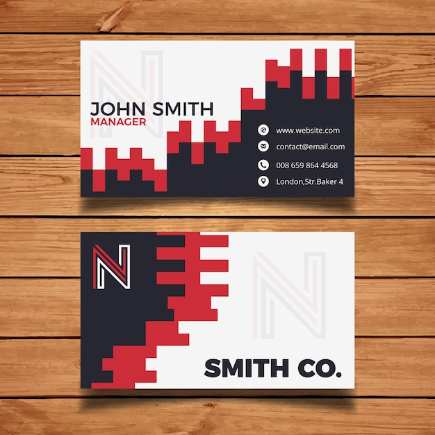Creative brick business card template vector free download creative brick business card template free vector pronofoot35fo Images