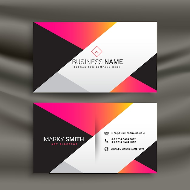 Creative bright business card design template vector free download creative bright business card design template free vector reheart Gallery