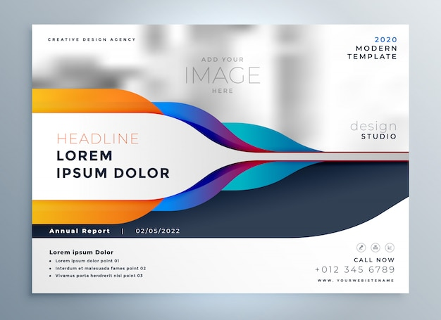 creative brochure design with abstract shapes Free Vector