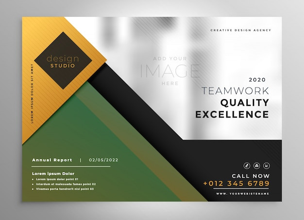 Creative brochure presentation template Free Vector
