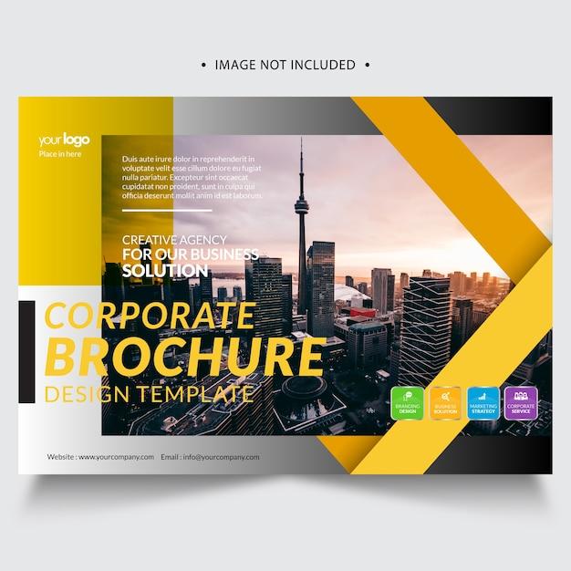 Creative brochure template Premium Vector
