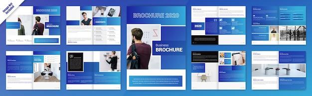 Creative buiness bifold brochure design Free Vector