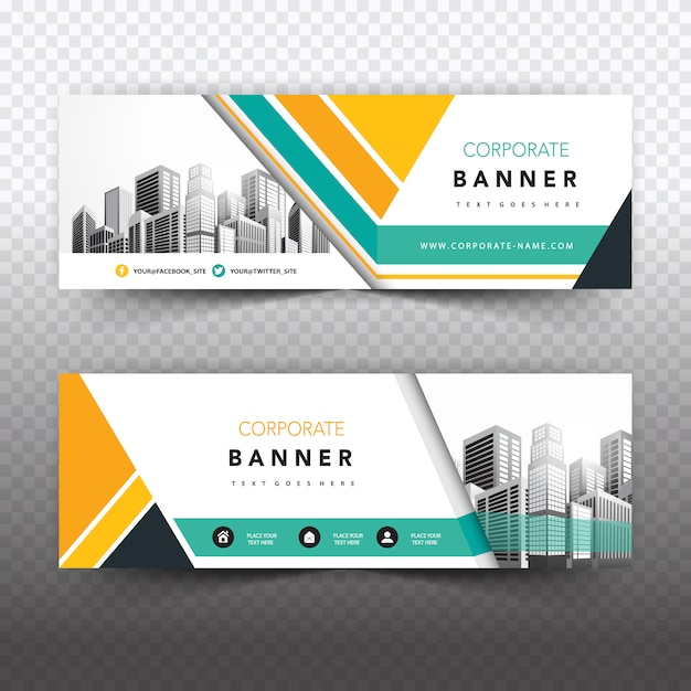 Creative business banner Free Vector
