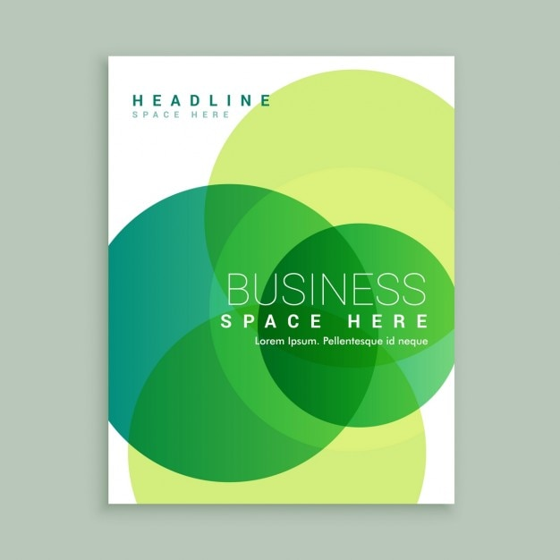 creative business brochure template free vector