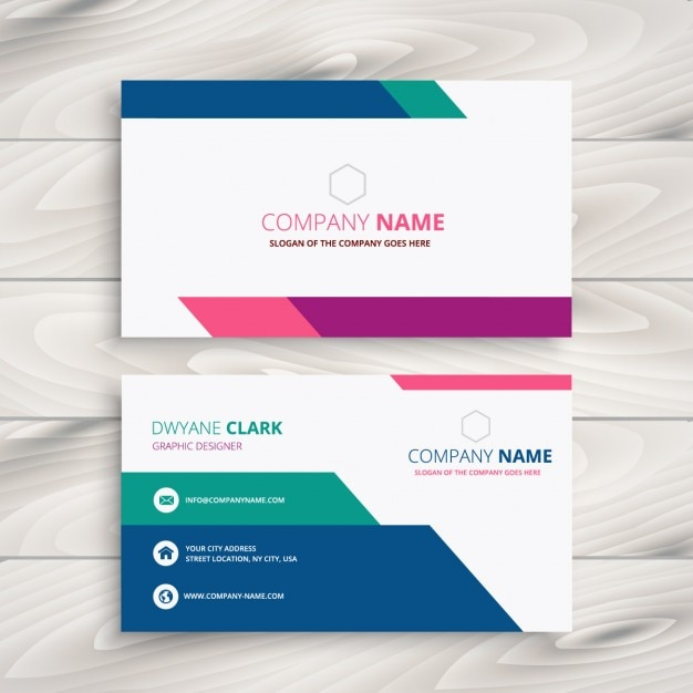 Creative business card in colorful style vector free download creative business card in colorful style free vector reheart Choice Image