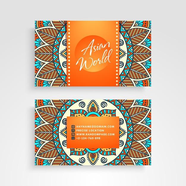 Creative business card in mandala style
