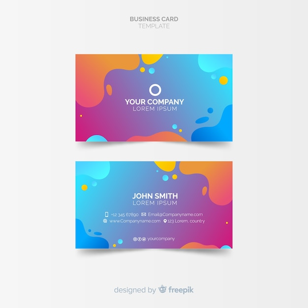 Creative business card template in abstract style vector free download creative business card template in abstract style free vector friedricerecipe Image collections