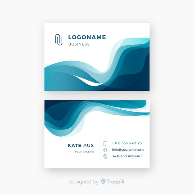 Creative business card template with abstract shapes vector free creative business card template with abstract shapes free vector colourmoves