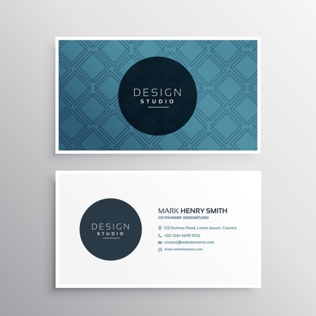 Creative Business Card Template With Geometric Line Shapes Vector - Creative business card templates